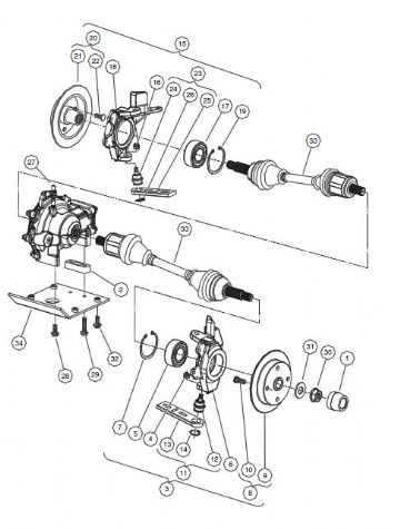 Club Car, Rotor Assembly, brake front (OEM)